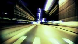 Night drive time lapse, cinema looks Footage