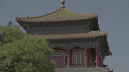 Tower in the national style in the Forbidden City. Beijing. China Live Action