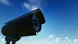 Outdoor Surveillance Camera, timelapse sunrise Animation