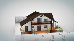 Recreational House on Project Blueprint with Alpha Animation