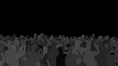 応援・抗議する人々 CG動画