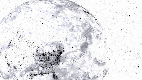 Techy black and white earth. Great textless background video with room for your text. Perfect for Animation