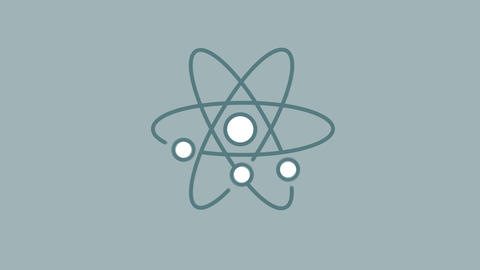 Atom line icon on the Alpha Channel Animation
