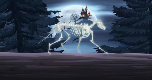 Halloween Wolf Skeleton CG動画