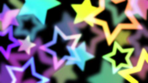 ネオンカラーがオシャレな星のモーションパターン背景のテンプレート After Effectsテンプレート