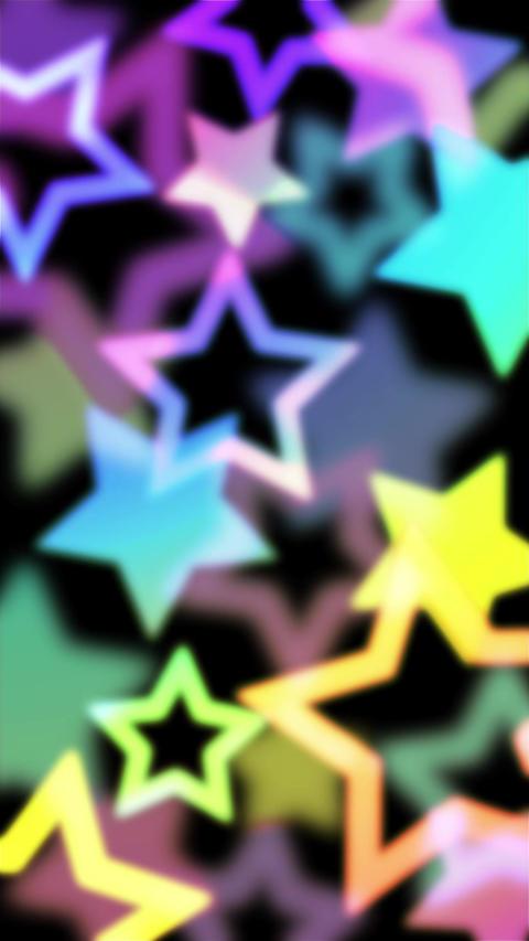 ネオンカラーがオシャレな星のモーションパターン背景のAEテンプレート縦型 After Effectsテンプレート