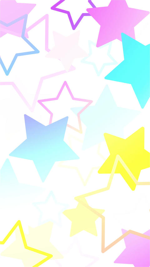 Fantastic and cute star-printed background motion 애니메이션