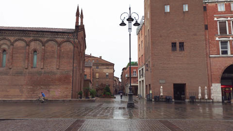 Small historical church in city center of Ferrara Live Action