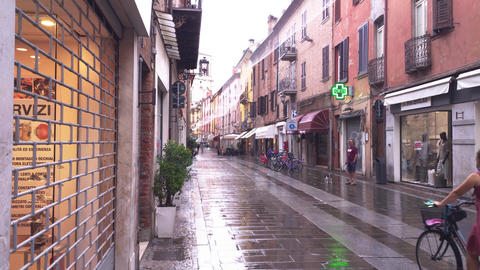 Evocative view of a street in the historic center of Ferrara 3 Live Action