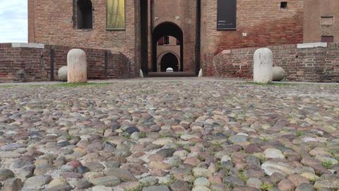 Medieval castle of Ferrara the historical Italian city 2 Live Action
