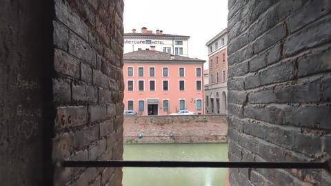 Medieval castle of Ferrara the historical Italian city 7 Live Action