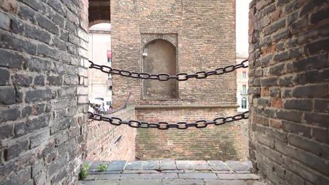 Medieval castle of Ferrara the historical Italian city 8 Live Action
