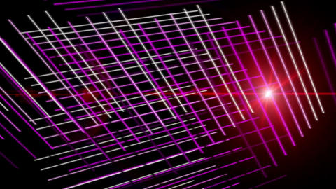 Futuristic video animation with stripe object and light in motion, loop HD CG動画