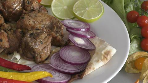 Skewers in Mediterranean cuisine Live Action