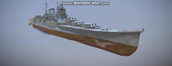 Mogami Japanese navi vessel 3D Model