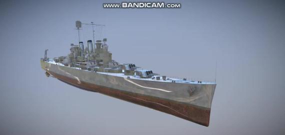 Cleveland navi military vessel 3D Model
