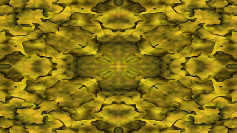Luxurious caleidoscopic tunnel background in gold design, golden scales Animation