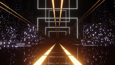 Dark Night City Street CG動画