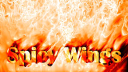 Spicy wings fire background Animation