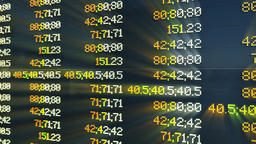 Stock Market Board, changing quotes Animation