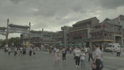 Beijing. China. People on the street. Dashilan. Cityscapes of Beijing Footage
