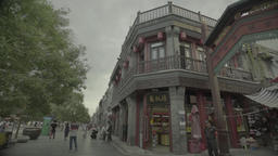 Beijing Architecture. The symbol of the city. Dashilan Street. China Live Action