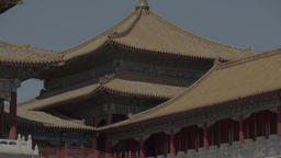 Architecture Of China. Asia. The roof of the house in the Forbidden City Live Action