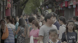 People on the streets of Beijing. China Live Action