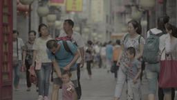 Beijing. China. People on the street Footage