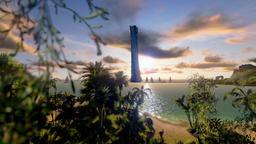 Tropical Island, Hotel on Coastline and yachts at sunset, timelapse sunrise Footage