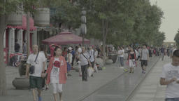 Beijing . People on the streets of Beijing. China Footage