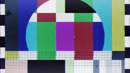 TV Test, noise, jitter and start transmission, loop Animation