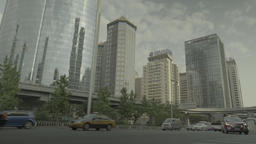 Business district of Beijing. China. The city of Beijing. Skyscrapers Footage
