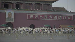Tiananmen Square. Beijing. The Republic of China Footage