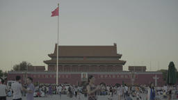 The symbol of the city of Beijing. Tiananmen Square Footage