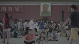 Beijing. China. The people of China at Tiananmen square Footage
