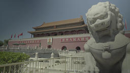 Architecture Of China. Dragon -symbol of China. Beijing. Tiananmen Live Action