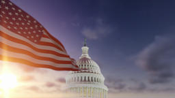 American Flag with US Capitol Animation