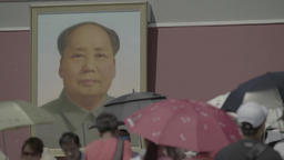 The portrait of Mao Zedong. Tiananmen Square. Beijing Footage