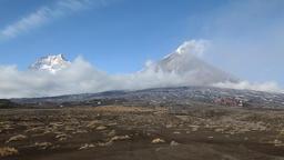 Beautiful Kamchatka volcanic landscape Footage