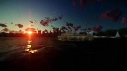 Beautiful time lapse sunrise over Sydney Opera House Animation