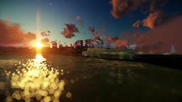 Beautiful time lapse sunrise to daytime over Sydney Opera House Animation