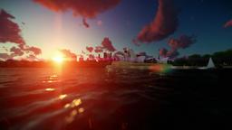 Beautiful timelapse sunrise over Sydney Opera House Animation
