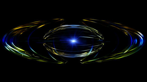Futuristic video animation with particle object and blinking light in motion, loop HD CG動画