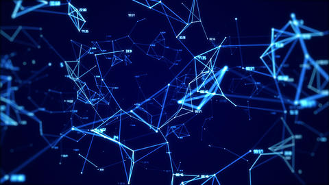 Animation of the global digital network with numbers abstract background looped GIF