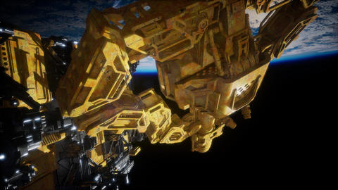 Alien Spaceship Armada Nearing Earth Live Action