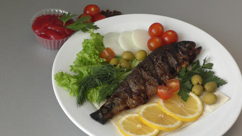 Trout in Mediterranean cuisine Live Action