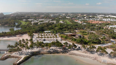 Dubois Park and Jupiter Inlet aerial view, Florida, USA Live Action