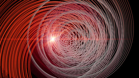Futuristic video animation with particle stripe object and light in motion, loop HD CG動画