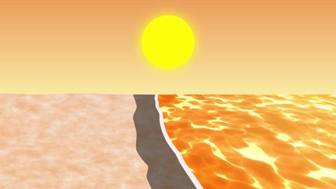 ANIMATION BACKGROUND【SUNSET BEACH】 Animation